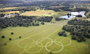 Olympic Rings Unveiled At Richmond Park