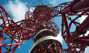 Eternal frame? … the ArcelorMittal Orbit seen from underneath.