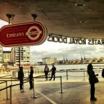 At the Emirates Royal Docks cablecar station