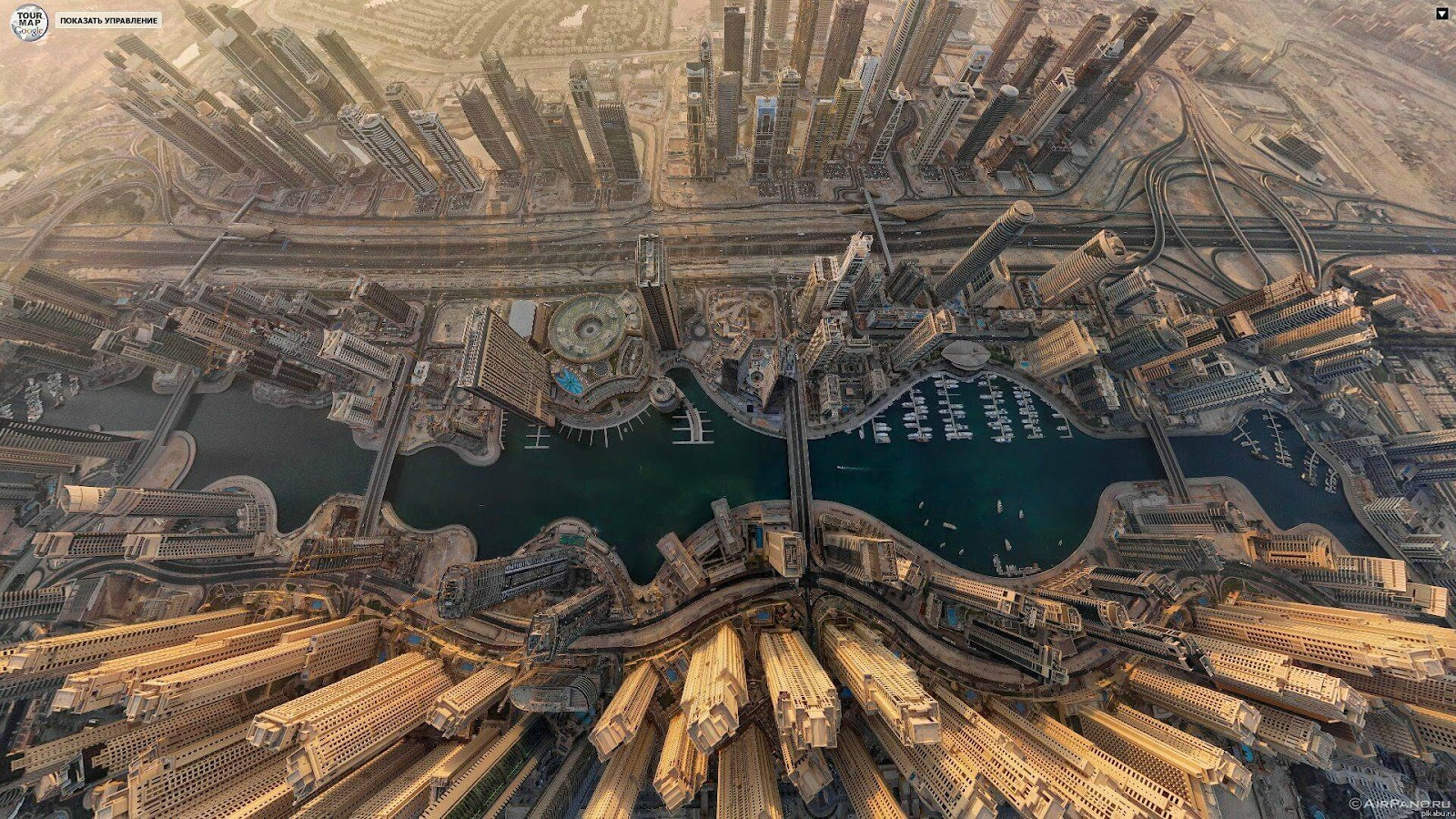 Aerial shot of Dubai Marina courtesy of Stanford University