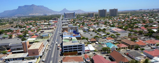 Aerial view of Voortrekker Road