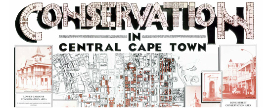 Section from Illustrated Map of Heritage Landmarks in Cape Town