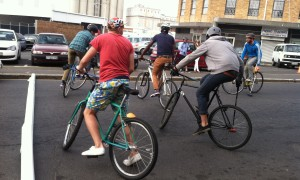 Bike Polo at Open Streets Cape Town. Photo by Whitney Johnson. 25 May 2013