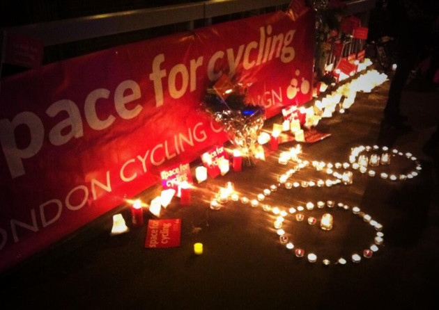 Londoners mourn the deaths of five cyclists who have lost their lives over the past nine days. Source: LondonCycleCampaign/Twitter