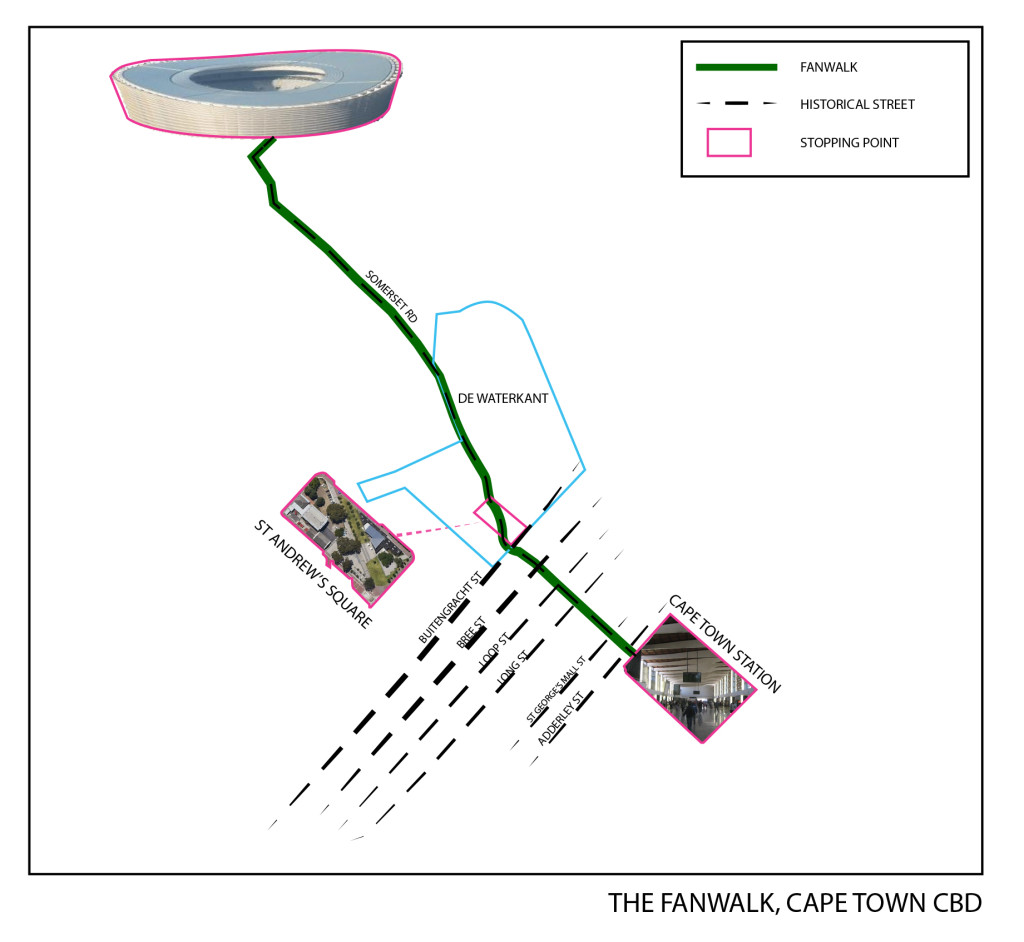 fanwalk, cape town map