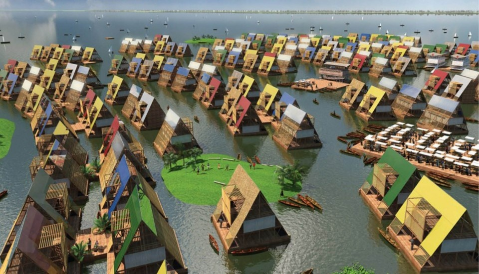 Floating Community Design by NLÉ Image from thecreatorsproject.vice.com