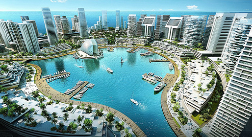 Design concept for Eko Atlantic Image from archinect.com