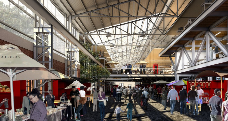 Rendering of the market interior (Photo by Design Indaba)