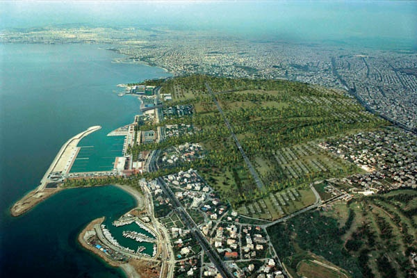 A huge piece of land in Athens, once earmarked to become an urban park, has been sold off. Source: Metropolitan Park International Competition