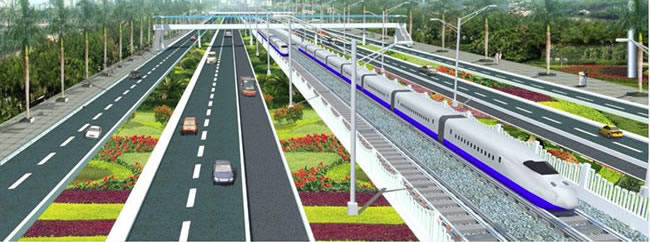 Proposed rail in Lagos: the blue line rail running along Badagry Expressway Source: LAMATA