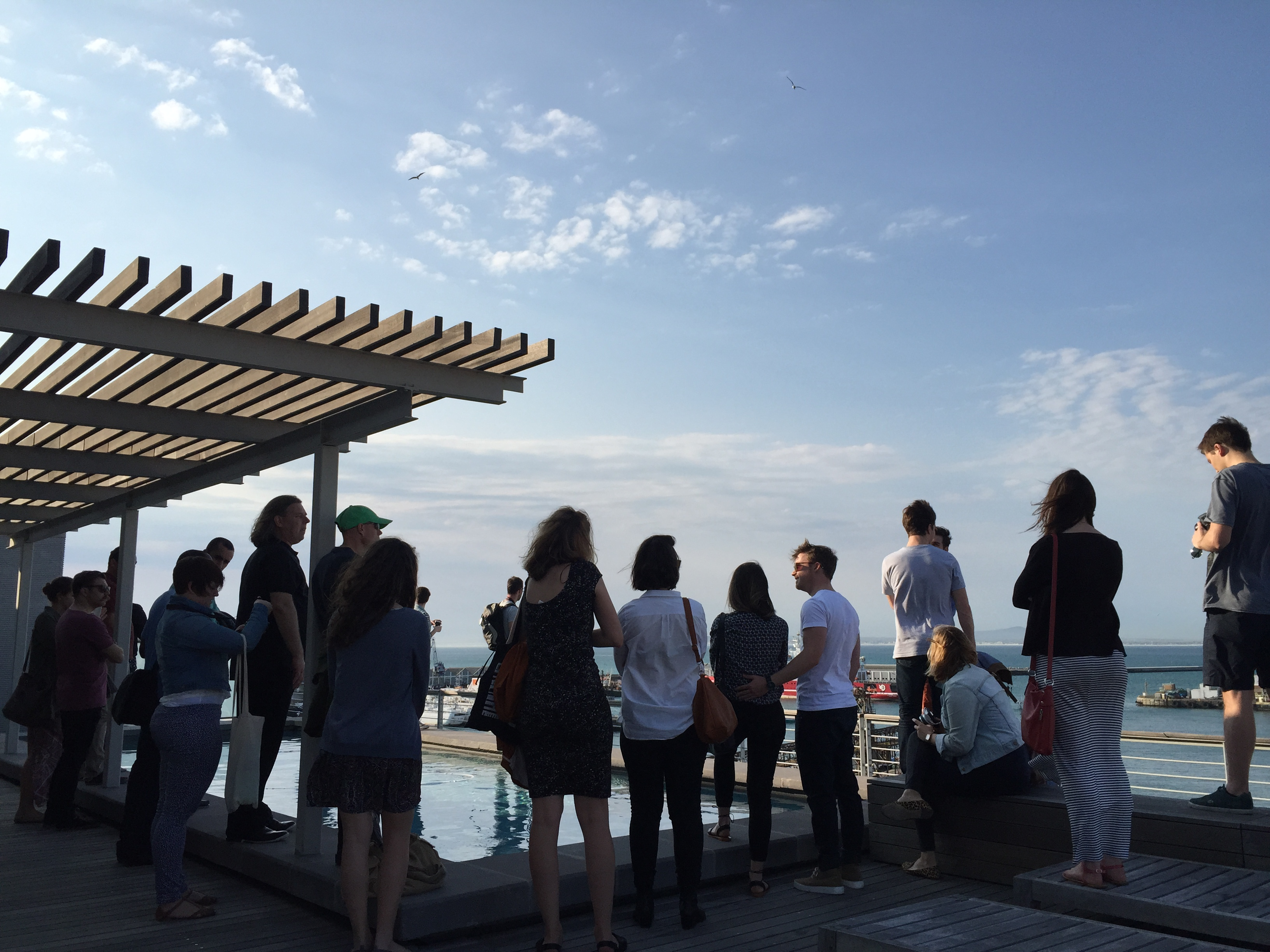Young Urbanists on the rooftop to sneak peek on