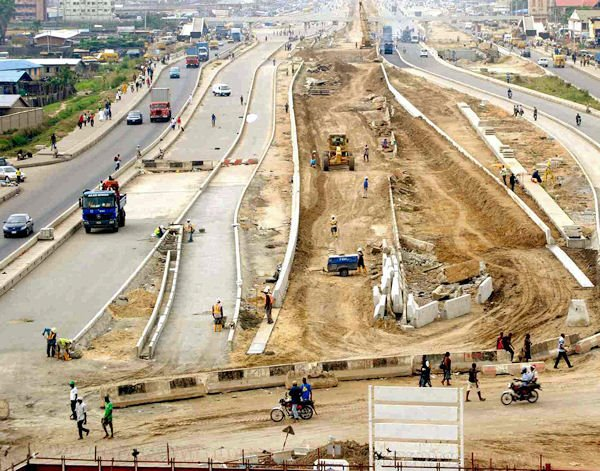 Lagos Light Rail (Blue Line) Under Construction