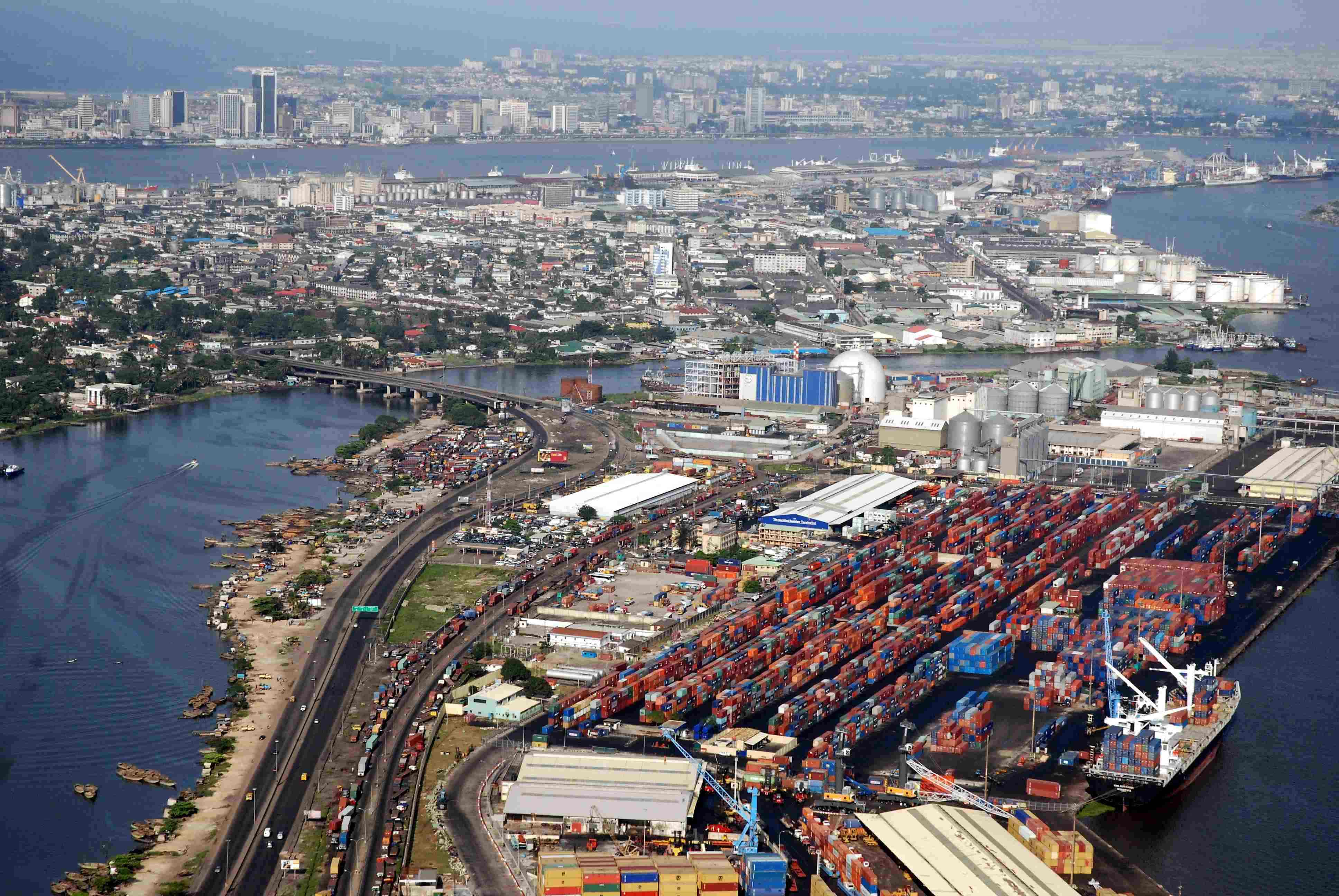 Lagos perspective harbour