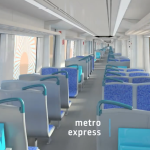 An interior view of the  X'Trapolis Mega Metro Express