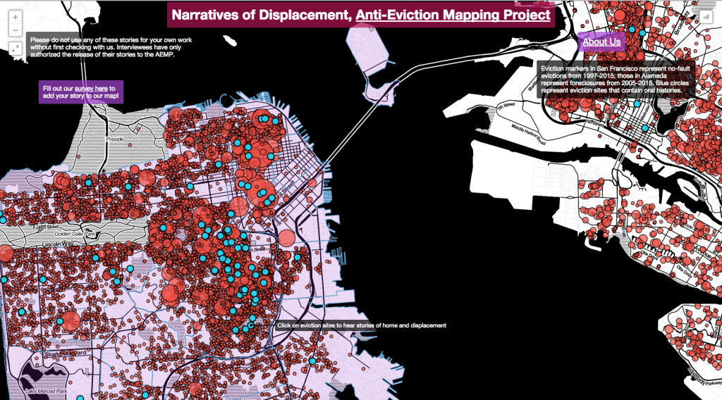 Narratives of Displacement, from the Anti-eviction mapping project