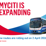 The new 261 Omuramba – Salt River – Adderley route will be deviated and some stops will not be operational until further notice.