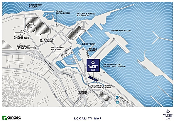Roggebaai Development Update The Yacht Club Map